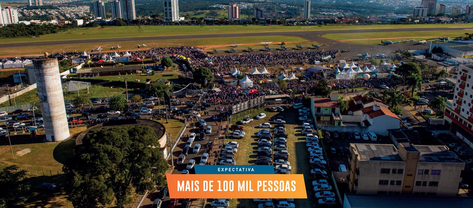 imagem de cima do evento